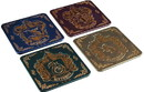 Paladone Products PLD-PP4257HPV2TX-C Harry Potter Hogwarts Crest Drink Coasters, Set Of 4