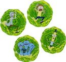 Paladone Products PLD-PP4846RMTX-C Rick And Morty 3D Drink Coasters, Set Of 4