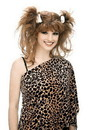Paper Magic Group Bee Cee Cave Woman Pigtails Pebbles Adult Brown Costume Wig