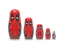 Promotional Partners Worldwide PPW-3282-C Marvel Deadpool 5-Piece Wood Nesting Doll Set