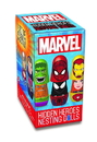 Promotional Partners Worldwide PPW-51127-C Marvel Blind Boxed Hidden Heroes Nesting Dolls, 1 Set of 4 Dolls