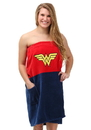 Robe Factory RBF-11412-C DC Comics Wonder Woman Ladies Cotton Bath Wrap Towel