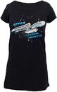 Robe Factory Star Trek Enterprise Ship Glow Ladies Sleep Shirt - Black