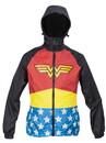 DC Wonder Woman Womens Zip Raincoat Hooded Jacket, Small