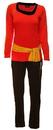 Robe Factory Star Trek Red Uhura Long Sleeve Adult Costume Pajama Set