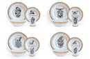 Robe Factory RBF-14807-C Harry Potter Hogwarts House Logos 16-Piece Ceramic Dinnerware Set