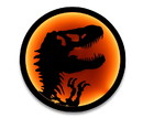 Robe Factory RBF-16475-C Jurassic Park T-Rex Logo LED Wall Light Sign   12 Inches Tall