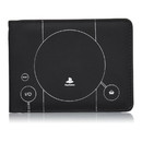 Rubber Road PlayStation PS1 Console Men's Bi-Fold Wallet Grey
