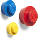 LEGO 3 Piece Wall Hanger Set, Yellow, Blue, Red