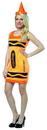 Rasta Imposta Crayola Neon Orange Tank Mini Dress Costume Adult One Size Fits Most
