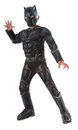 Rubie's Captain America 3 Deluxe Muscle Chest Black Panther Costume Child