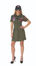 Rubie's Top Gun Uniform Women's Costume Dress & Hat
