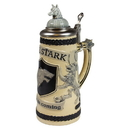 SD Toys Game of Thrones House Stark Beer Stein | Authentic Ceramic Drinking Mug | 22 Oz.