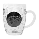 SD Toys Game of Thrones House Stark Crystal Stein | Unique Drinking Glass | 16 Oz.