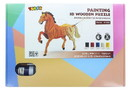 Shantou South Toys Factory SIL-SA059527-C 3D Wooden Painting Puzzle, Horse
