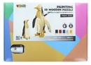 Shantou South Toys Factory SIL-SA059535-C 3D Wooden Painting Puzzle, Penguin