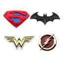 SalesOne DC Justice League Logos Enamel Collector Pins Set of 4