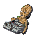 SalesOne International SOI-GROTPIN02-C Guardians of the Galaxy Baby Groot & Bomb Enamel Collector Pin, Toynk Exclusive