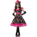 Seeing Red Sugar Skull Sweetie Child Costume Dress