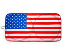 Surreal Entertainment SRE-CS-SE-FLG-C American Flag Sunshade for Car Windshield   64 x 32 Inches