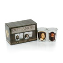 Surreal Entertainment Outlander Collectibles Jamie and Claire Fraser Shot Glasses - Collectors Edition