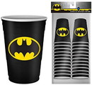 Silver Buffalo SVB-BN11217C-C DC Comics Batman Logo 2oz Disposable Plastic Mini Cups 20 Pack