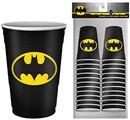 Silver Buffalo SVB-BN11217C-C DC Comics Batman Logo 2oz Disposable Plastic Mini Cups 20 Pack