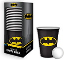 Silver Buffalo SVB-BN11217D-C DC Comics Batman Logo 18oz Disposable Plastic Cups 22 Pack w/ Pong Balls