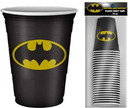 Silver Buffalo SVB-BN11217E-C DC Comics Batman Logo 18oz Disposable Plastic Party Cups 20 Pack
