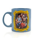 Silver Buffalo Friends Blue Coffee Cup - Friends Group In Monica's Frame - Holds 20 Ounces
