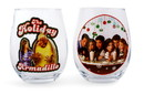 Friends Holiday Stemless Wine Glass Collectible 2-Pack, Each Holds 20 Ounces