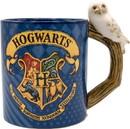 Silver Buffalo SVB-HP1282E5-C Harry Potter Hogwarts Crest 20oz Ceramic Mug with Sculpted Handle