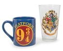 Silver Buffalo SVB-HP15063X-C Harry Potter Hogwarts Pint Glass And Platform 9 3/4 Mug Set