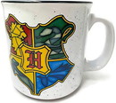 Silver Buffalo SVB-HP2427E1-C Harry Potter Stainless Glass Hogwarts Crest 20 Ounce Ceramic Camper Mug