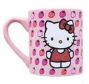 Silver Buffalo SVB-KTY31632G-C Hello Kitty Glitter Strawberry 14Oz Ceramic Mug