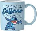 Silver Buffalo SVB-LI133432-C Disney Lilo & Stitch No More Caffeine 14oz Ceramic Coffee Mug