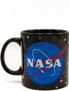 Silver Buffalo SVB-NAS31232-C NASA Logo Black 14oz Ceramic Coffee Mug