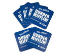 Silver Buffalo SVB-OFC405DC-C The Office Dunder Mifflin Logo Paper Drink Coasters | Set of 6
