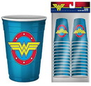 Silver Buffalo SVB-WW11027C-C DC Comics Wonder Woman Logo 2oz Disposable Plastic Mini Cups 20 Pack