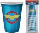 Silver Buffalo SVB-WW11027E-C DC Comics Wonder Woman Logo 18oz Disposable Plastic Party Cups 20 Pack