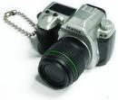 Takara Pentax Capsule Mini Camera Keychain K-5 Limited Silver Camera