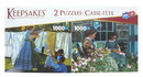Set of 2 Keepsakes 1000 Piece Jigsaw Puzzles Wash Day / Snapping Beans