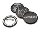 "ThinkGeek THG-376-C Watch Dogs 1-1/2"" Logo Pins, Set of 4"