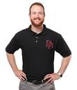 ThinkGeek Marvel's Daredevil Logo Men's Polo Shirt