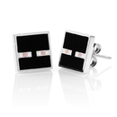 ThinkGeek Minecraft Enderman Enamel Stud Earrings