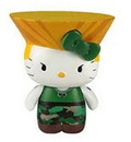 Toynami TNM-1512-GUILE-C Street Fighter X Sanrio Mobile Plug Charm Guile
