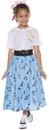 Underwraps 50's Style Shirt & Skirt Child Costume Set