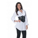 Underwraps Pirate Adult Costume White Laced-Front Blouse