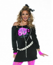Underwraps Awesome 80's Women's Tunic Costume S