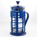Seven20 UGT-DW10201-C Doctor Who 34oz Tardis French Press Glass Carafe Plunger Filter